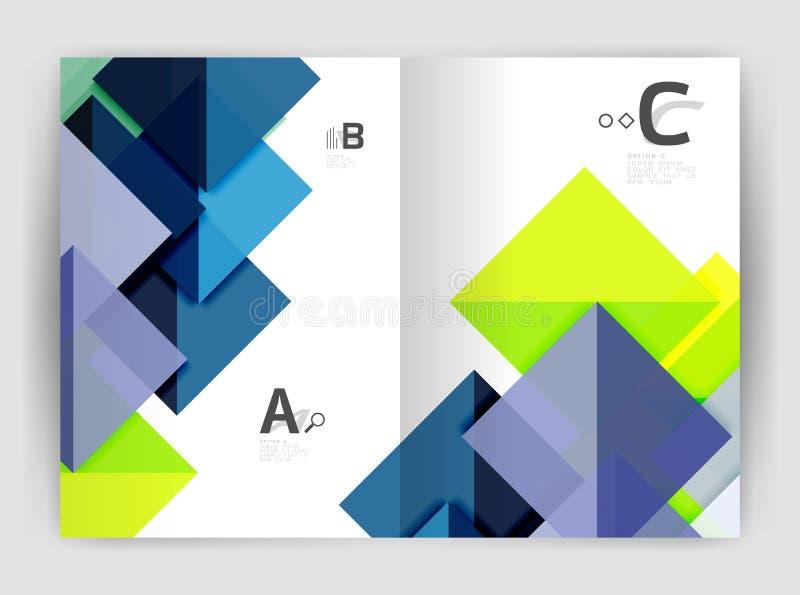 Imprima el informe anual del triángulo elegante moderno del fondo de la plantilla libre illustration