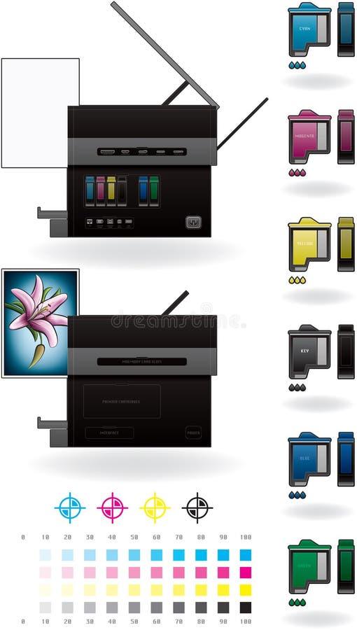 Imprimante à jet d'encre de bureau/photocopieur illustration libre de droits