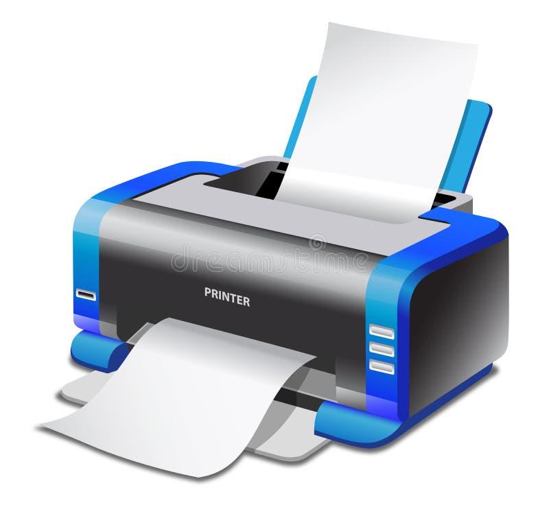 Imprimante illustration stock