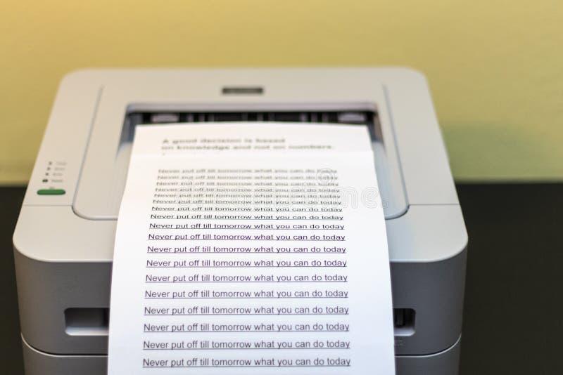 imprimante photos stock