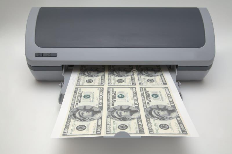 imprimante avec 1000000 billets d 39 un dollar image stock image du panneau prix 621911. Black Bedroom Furniture Sets. Home Design Ideas