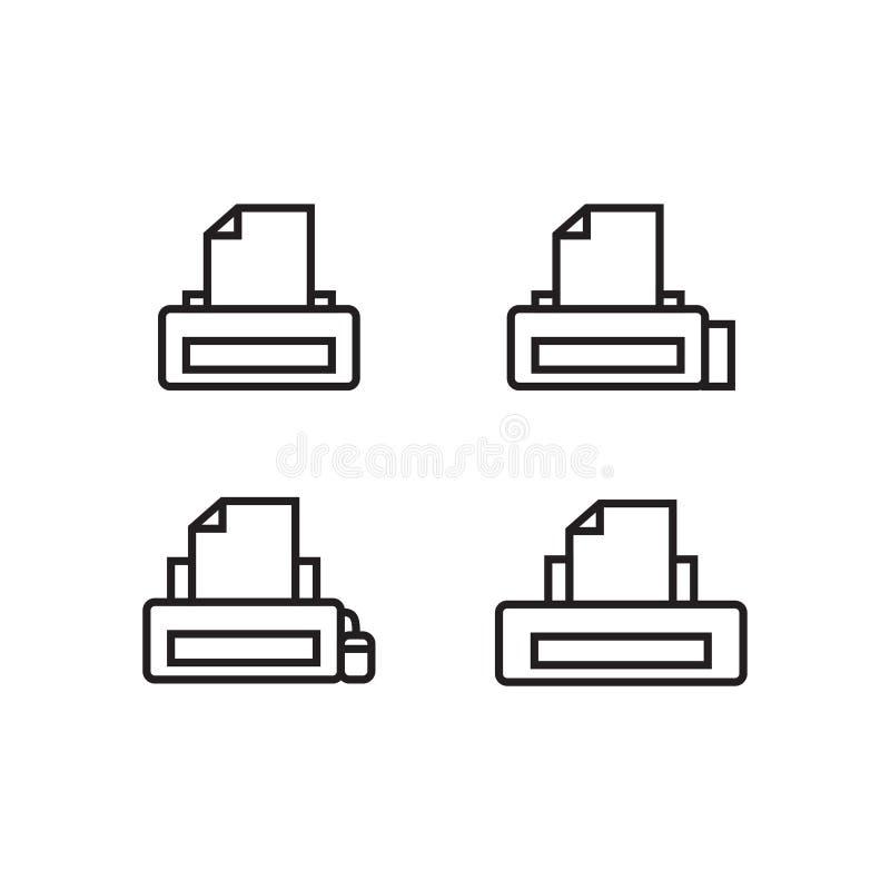 Imprimante d'ensemble d'icône, vecteur, ENV 10 illustration libre de droits