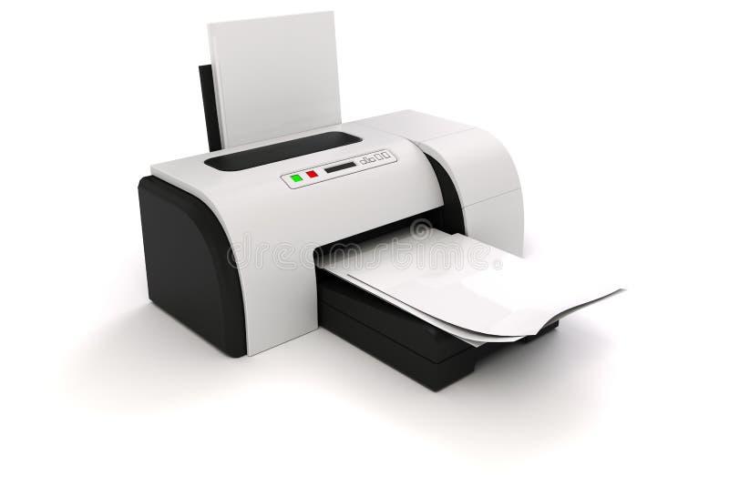 imprimante 3d et documents illustration stock
