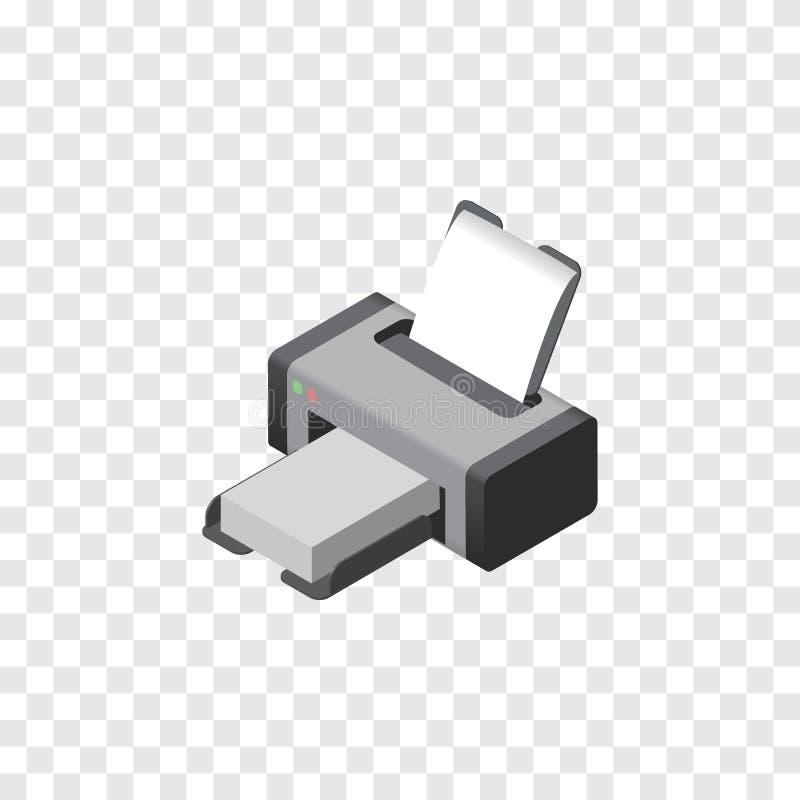 Imprimante d'isolement Isometric L'élément de vecteur de machine d'impression peut être employé pour l'imprimante, impression, co illustration libre de droits