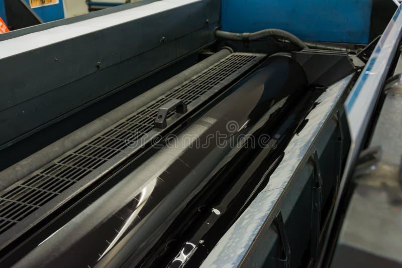 Imprimante excentrée Printing Industry Black Magen d'impression du cylindre CMYK illustration de vecteur