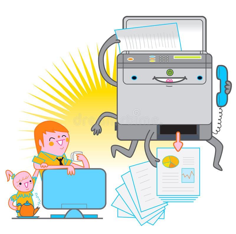Imprimante multifonctionnelle illustration stock