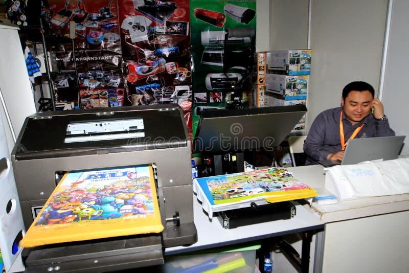 Imprimantes et conspirateurs photographie stock