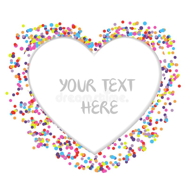 Colorful Confetti, Heart template vector royalty free stock photo