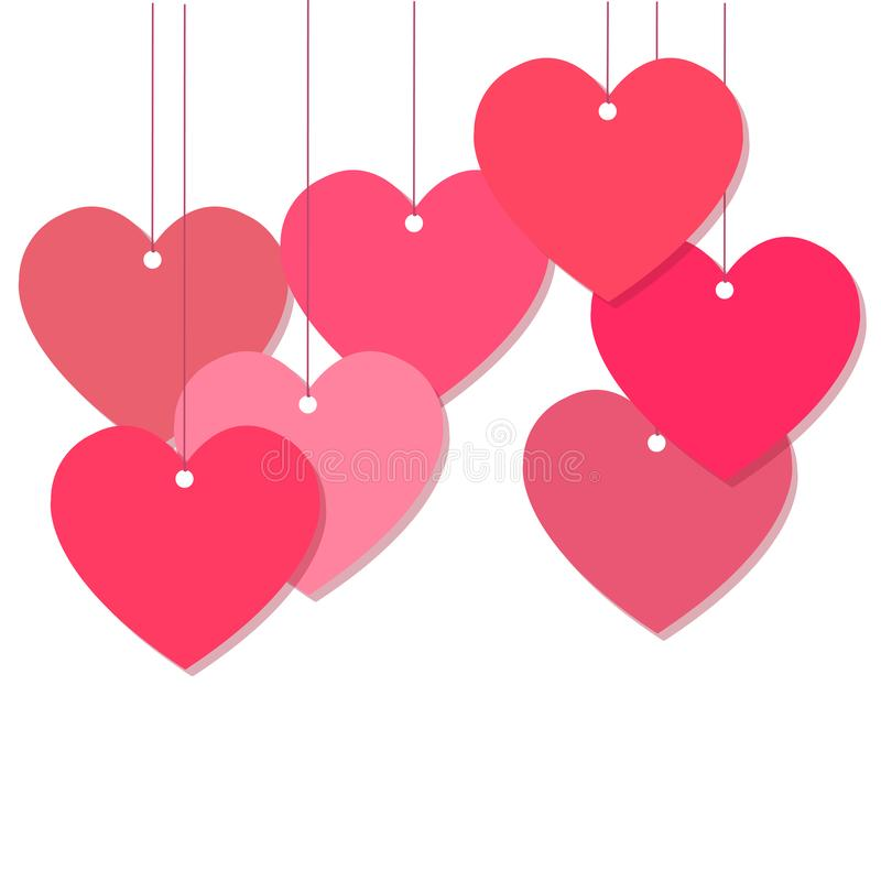 Pink Hearts decoration vector royalty free stock photo