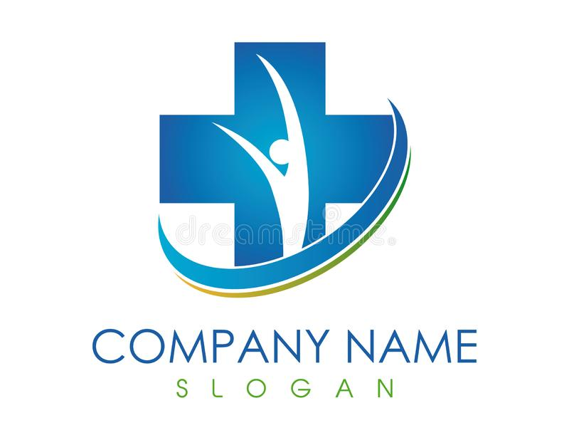Medical family logo vector illustration