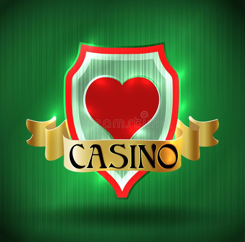 Casino vip poker hearts card, vector stock illustration