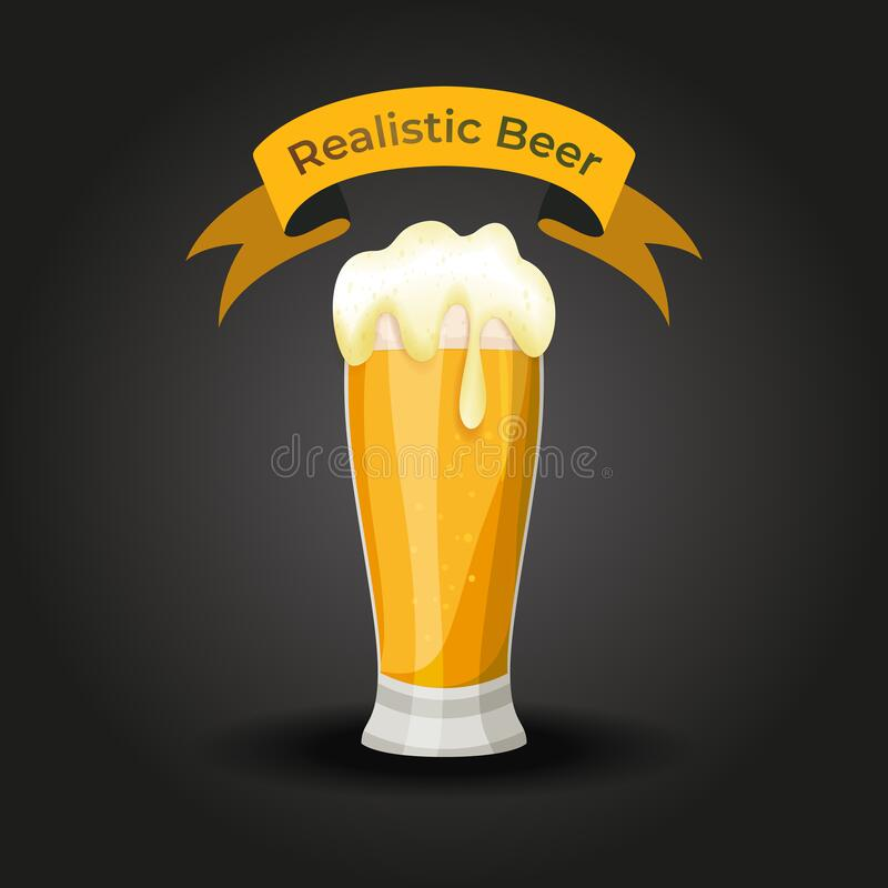 Vector illustration of a Realistic Beer glass Vector stock photos