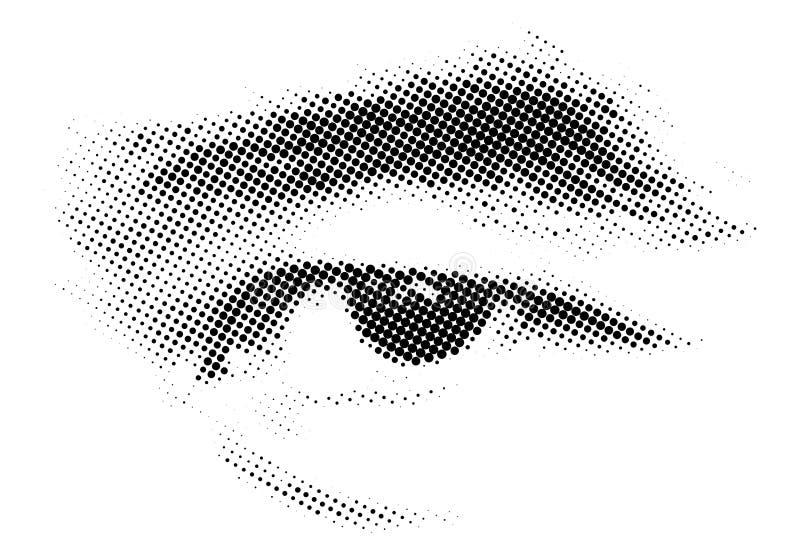 Imprimir de intervalo mínimo da técnica do olho humano ilustração stock