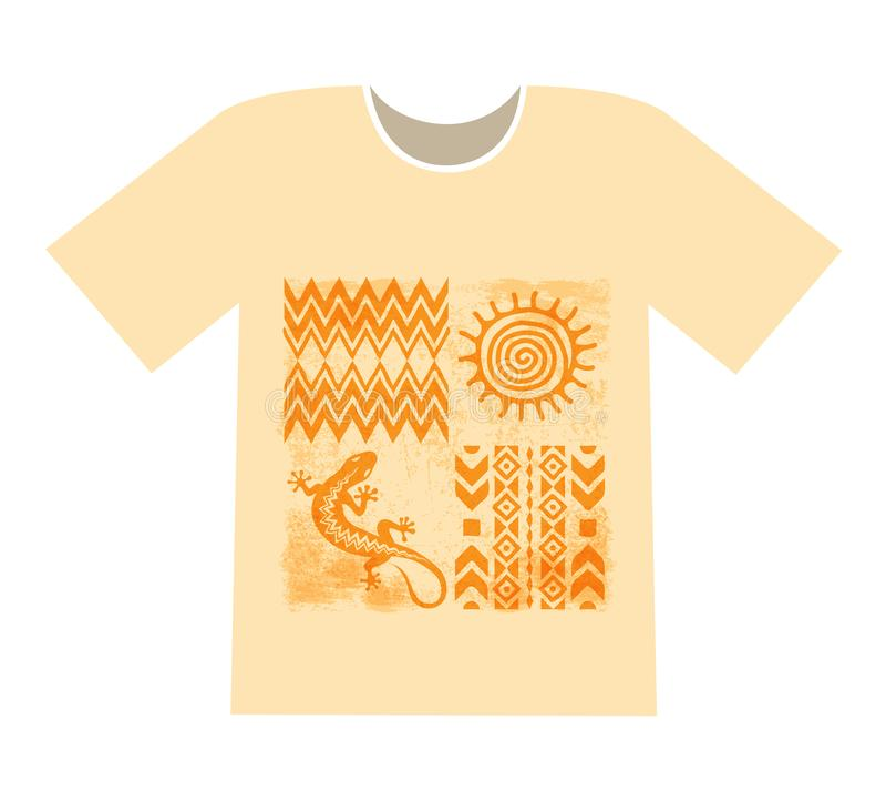 imprimir em um t-shirt ilustração stock