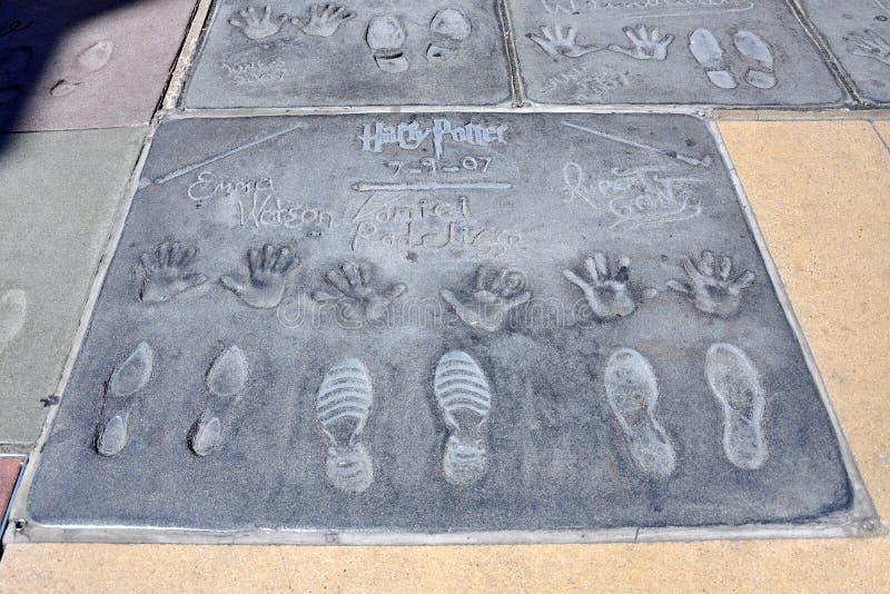Imprint de Harry Potter no bulevar de Hollywood fotografia de stock