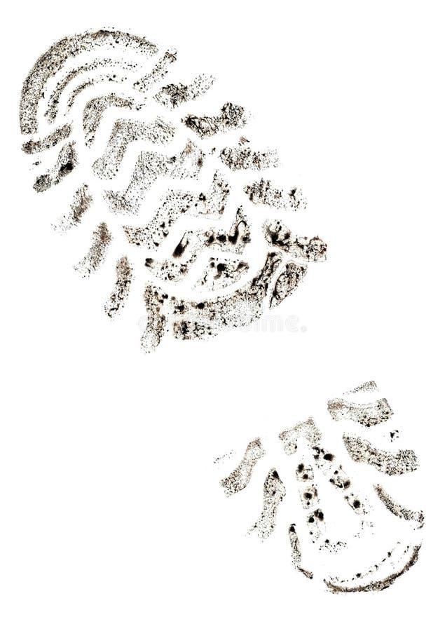 Imprint do traço fotografia de stock