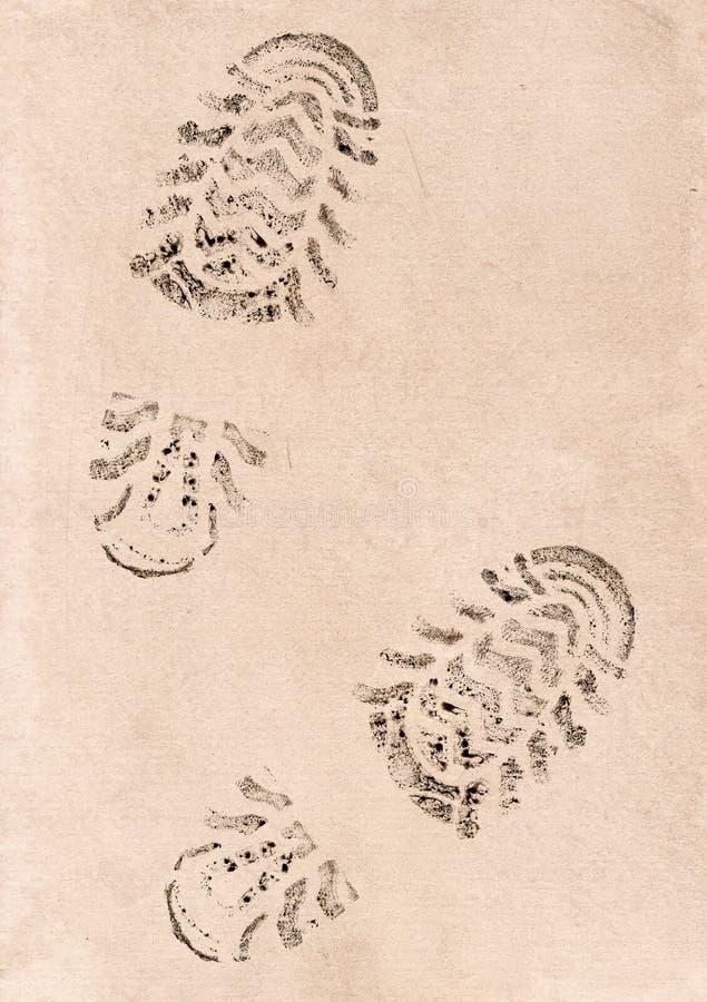 Imprint dos dois traços fotografia de stock royalty free