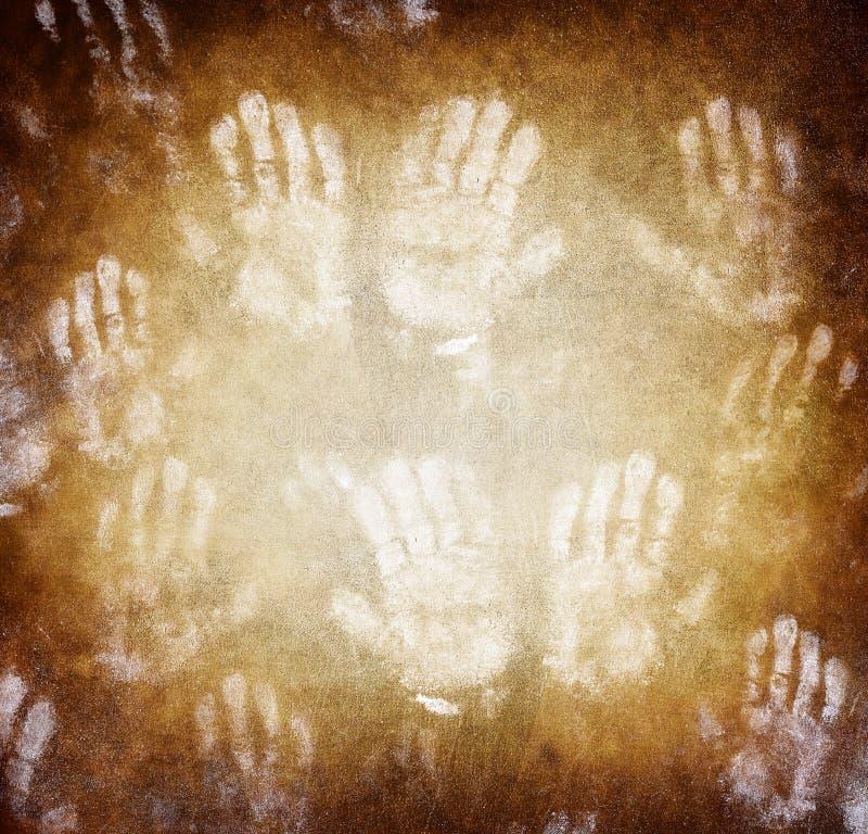Imprint of human hands royalty free stock photo
