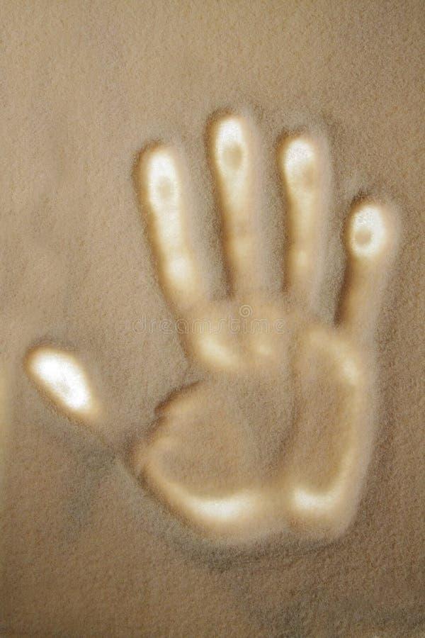 Imprint humano da mão foto de stock royalty free