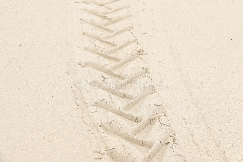 Imprint on the sand background and texture stock photography