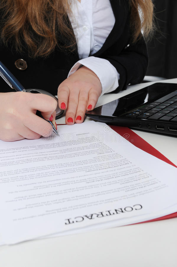 Impronta del contratto fotografia stock