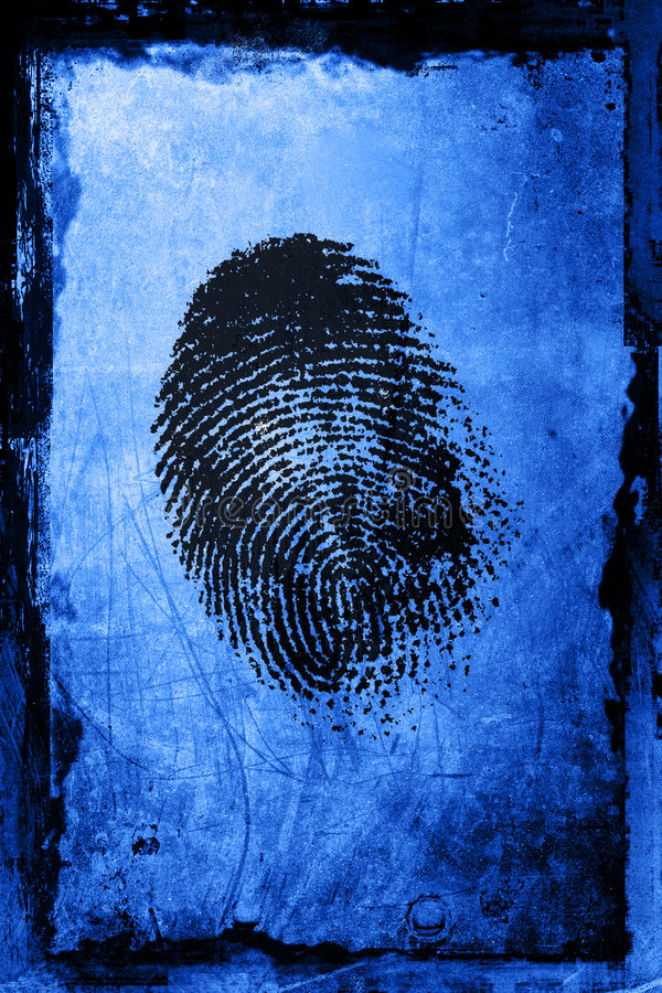 Impronta digitale fotografia stock