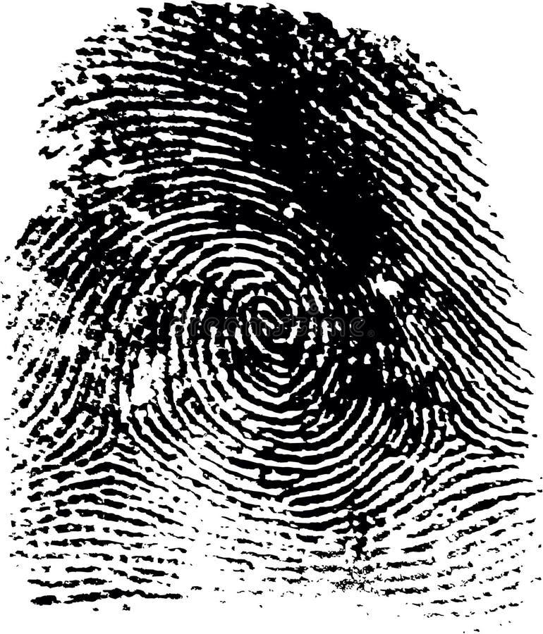 Impronta digitale (19) illustrazione vettoriale