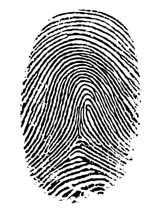 Impronta digitale. royalty illustrazione gratis