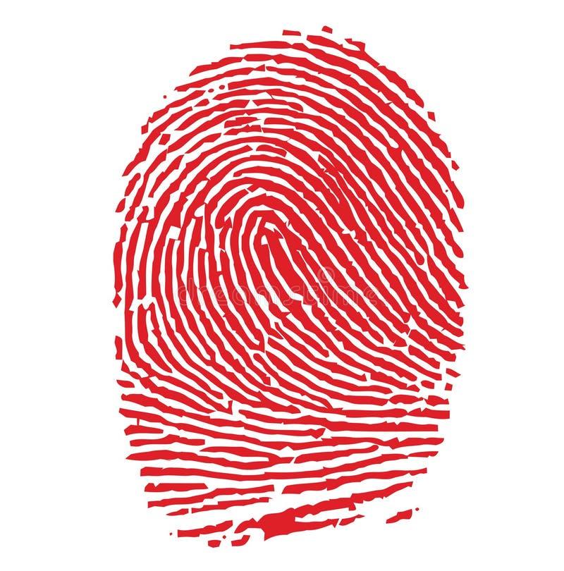 Impronta digitale rossa illustrazione vettoriale