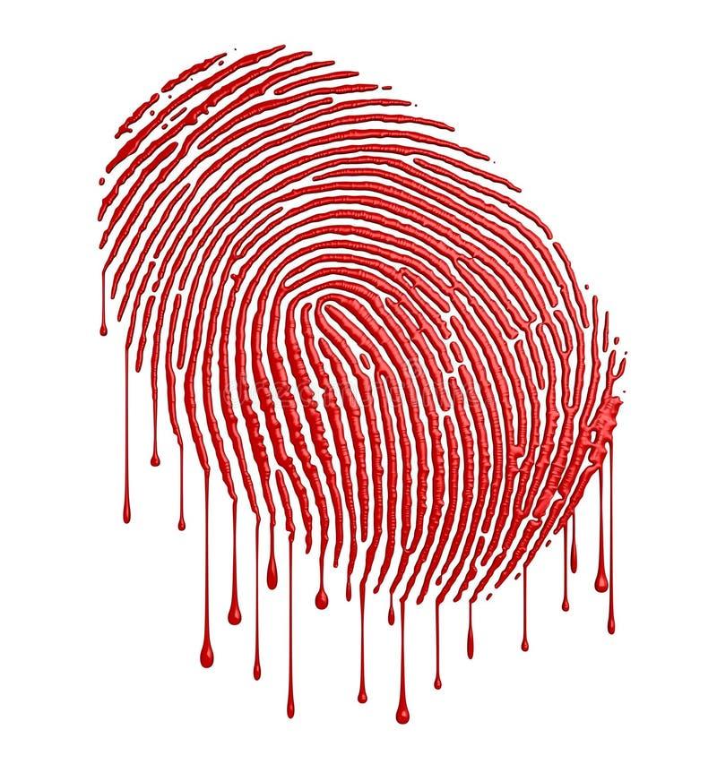 Impronta digitale sanguinante illustrazione di stock