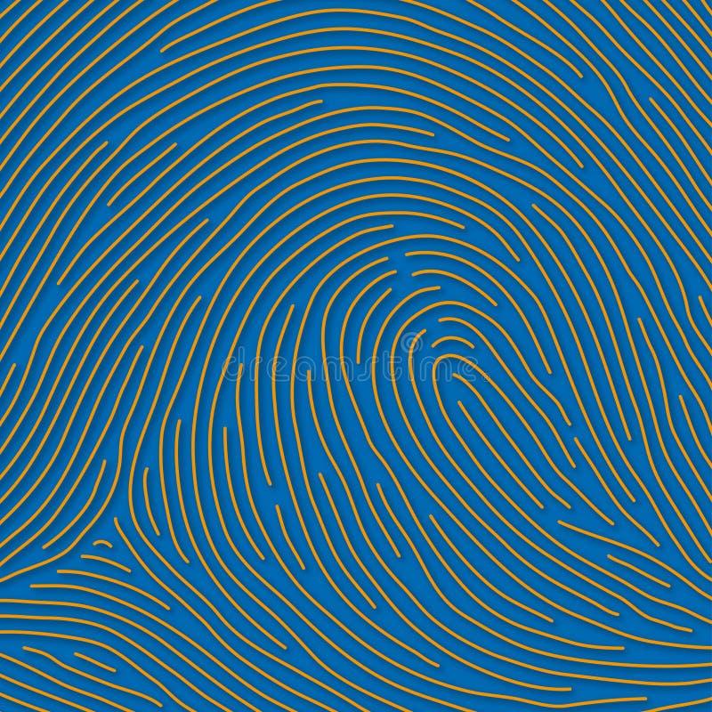 Impronta digitale (vettore) illustrazione vettoriale