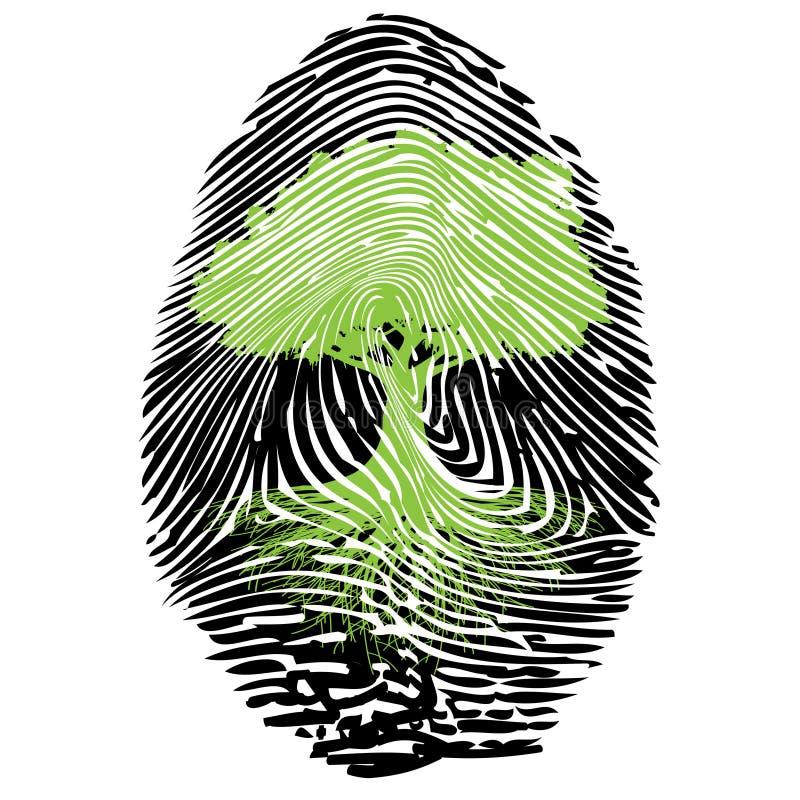 Impronta ecologica illustrazione di stock