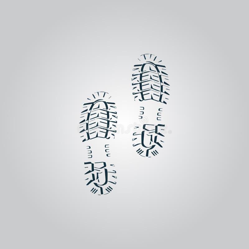 Download Impronte Pulite Della Scarpa Di Vettore Illustrazione Vettoriale - Illustrazione di people, piano: 56881172