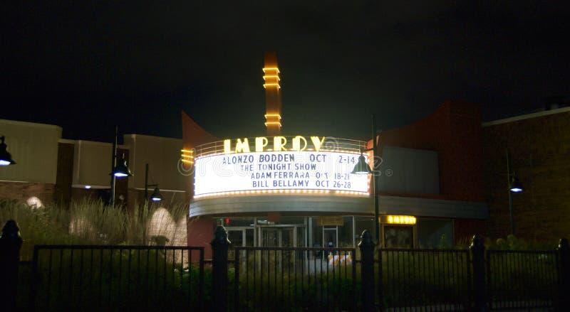 Improv Comedey俱乐部, Woodfield购物中心,绍姆堡, IL 免版税图库摄影