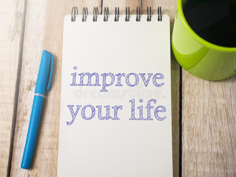 Improve Your Life, Motivational Words Quotes Concept royalty free stock image