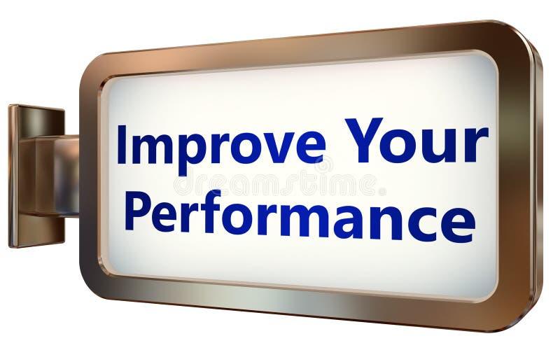 Improve Your Performance on billboard background vector illustration