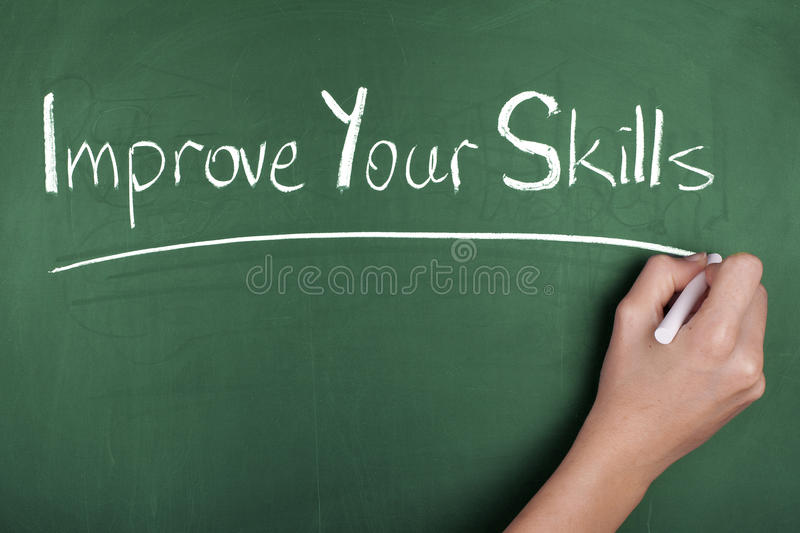 Improve your skills royalty free stock image