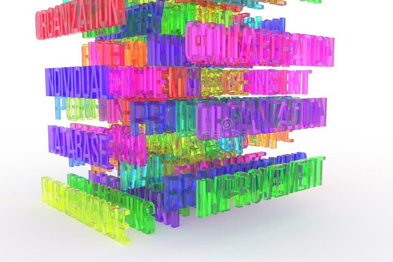 Improvement, business conceptual colorful 3D rendered words. Title, cgi, digital & artwork. Improvement, business conceptual colorful 3D rendered words. CGI vector illustration