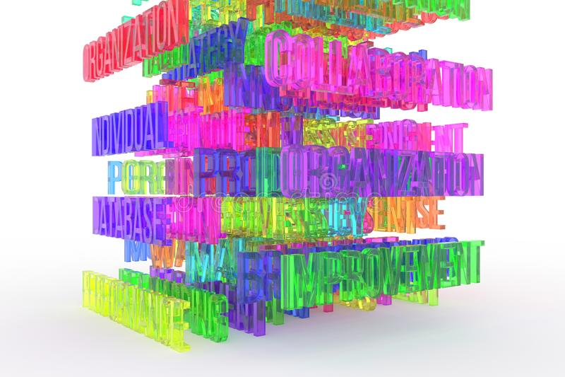Improvement, business conceptual colorful 3D rendered words. Web, digital, text & backdrop. Improvement, business conceptual colorful 3D rendered words vector illustration