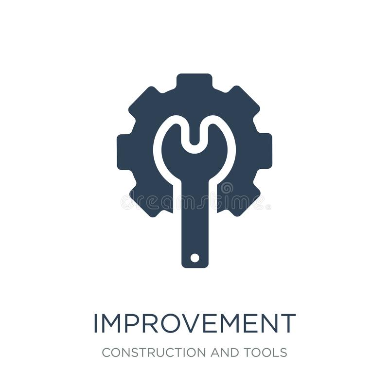 Improvement icon in trendy design style. improvement icon isolated on white background. improvement vector icon simple and modern. Flat symbol for web site vector illustration