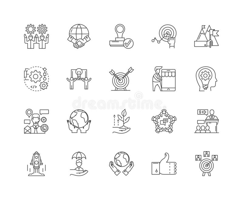Improvement line icons, signs, vector set, outline illustration concept. Improvement line icons, linear signs, vector set, outline concept illustration vector illustration