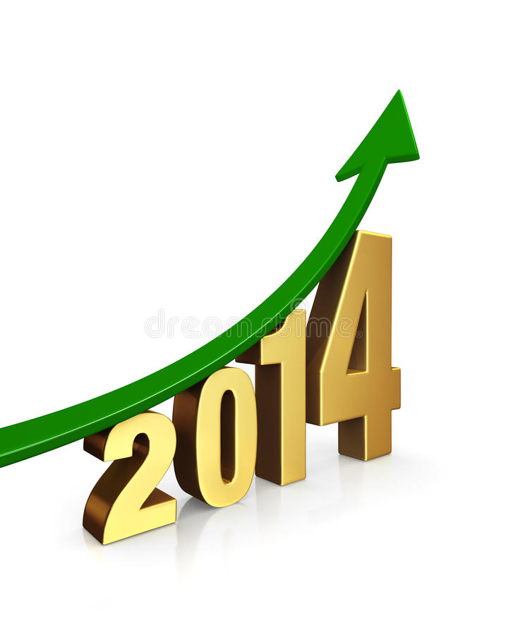 Improving Prospects In 2014 stock image