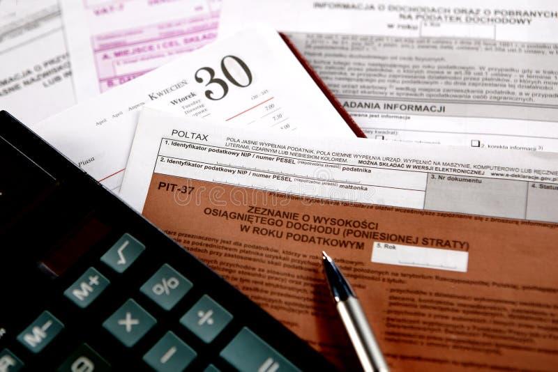 Impuesto anual, HUECO foto de archivo libre de regalías