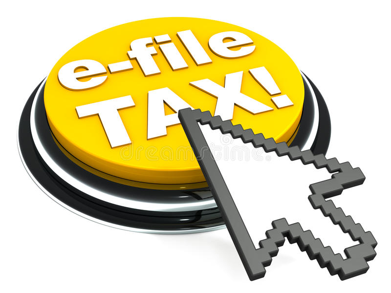 Impuesto del fichero en línea ilustración del vector