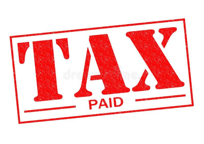 Impuesto pagado imágenes de archivo libres de regalías