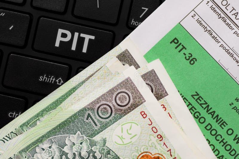 Impuesto polaco imagen de archivo