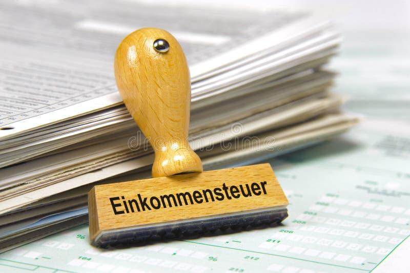 Impuesto sobre la renta en Alemania imágenes de archivo libres de regalías