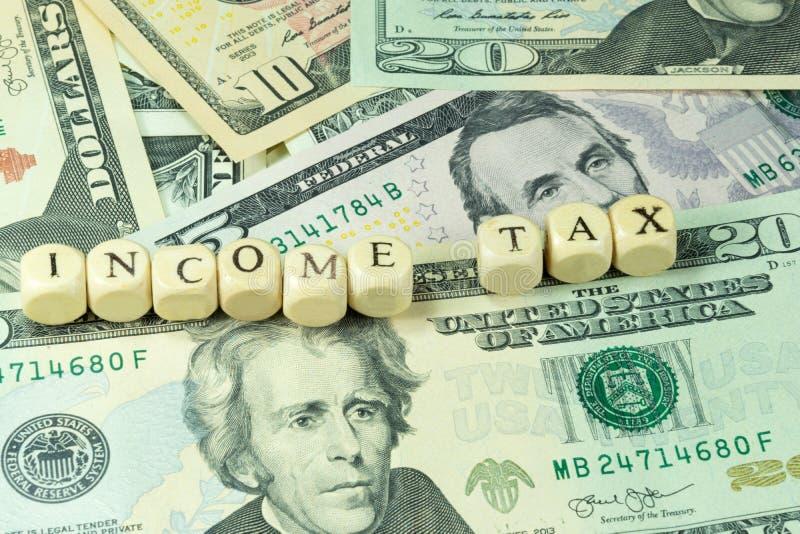 Impuesto sobre la renta en América fotografía de archivo libre de regalías