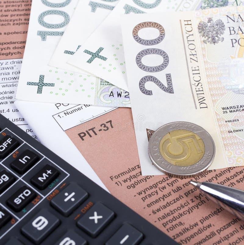 Impuesto sobre la renta individual polaco fotografía de archivo libre de regalías