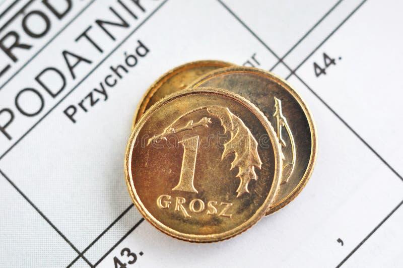 Impuesto sobre la renta polaco fotografía de archivo